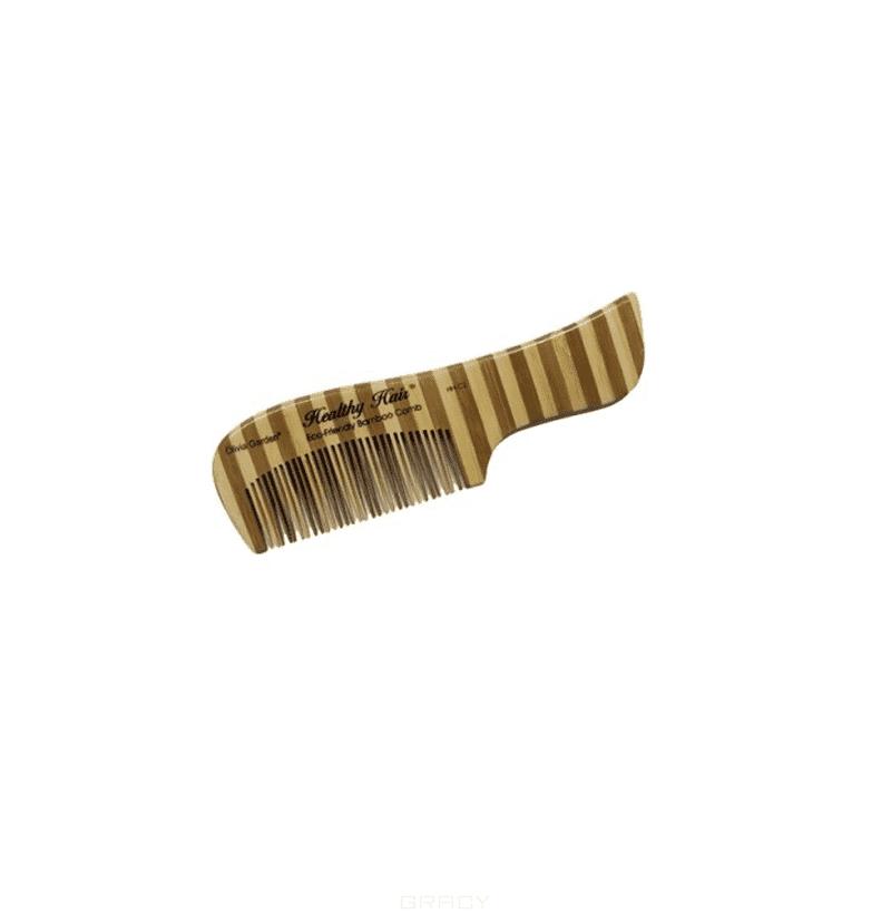 Расческа деревянная С2 OGBHHC2Бамбуковый гребень с изогнутой ручкой Olivia Garden OGBHHC2 для волос. Высококачественный, экологичный, легкий и прочный гребень с ручкой из натурального бамбука от Olivia Garden.&#13;<br>&#13;<br>Расчески и щетки для волос из бамбука - более прочные, лёгкие и долговечные, чем из обычного дерева. Бамбук - гораздо более экологичный материал, нежели обычная древесина. Он вырастает на 20 метров всего за 4 года, в то время как обыкновенному дереву для этого понадобится от 25 до 60 лет. Кроме того бамбук на 15% прочнее клена и на 30% легче дуба. Применение бамбука в производстве помогает сохранить нетронутыми леса и экологию на нашей планете.<br>