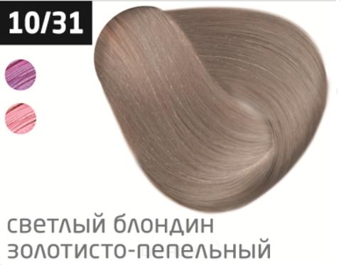 Купить OLLIN Professional, Перманентная стойкая крем-краска с комплексом Vibra Riche Ollin Performance (120 оттенков) 10/31 светлый блондин золотисто-пепельный