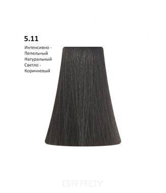 Купить BB One, Перманентная крем-краска Picasso (153 оттенка) 5.11Intense Ash Natural Light Brown/Интенсивно-Пепельный Натуральный Светло-Коричневый