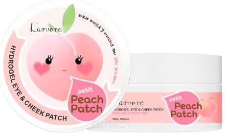Купить L'Arvore, Гидрогелевые патчи для глаз Hydrogel Eye & Cheek Petit Peach Patch, 60 шт