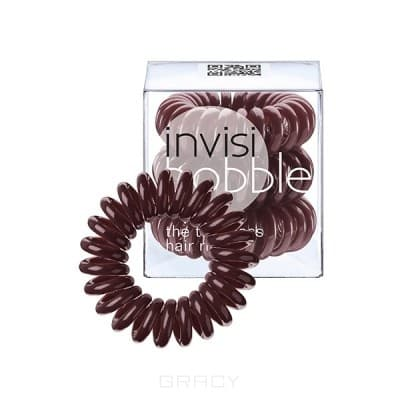 Invisibobble, Резинка для волос коричневая Chocolate Brown (3 шт.) wavey chocolate brown decal style skin fits original ps4 gaming console