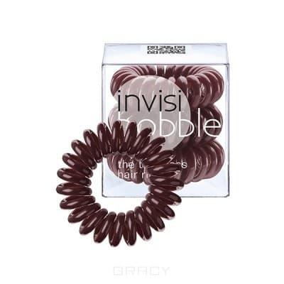 Invisibobble, Резинка для волос коричневая Chocolate Brown (3 шт.) 360 degree rotating protective litchi pattern case w stand for google nexus 7 ii chocolate