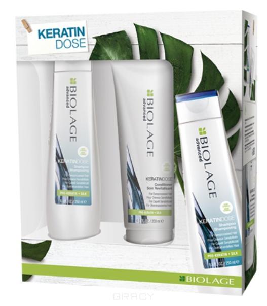 Matrix, Весенний набор для укрепления волос 2020 шампунь + кондиционер Keratindose, 250/200 мл цена 2017