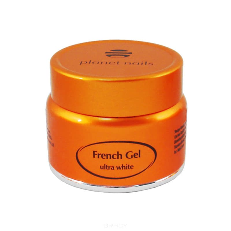 Planet Nails, Гель френч Ultra White French Gel ультра-белый густой вязкости, 5 г recette merveilleuse ultra eye contour gel by stendhal for women 0 5 oz gel
