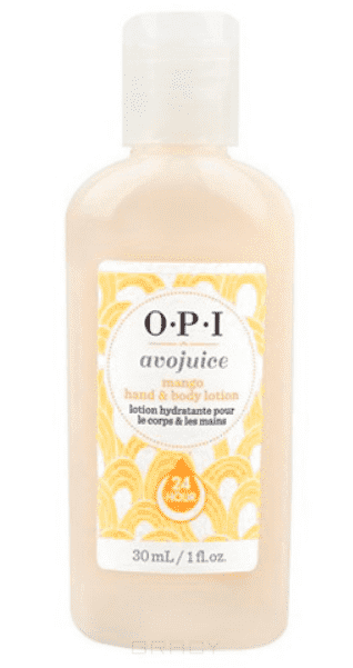 OPI, Лосьон для рук Манго Avojuice, 250 мл opi avojuice vanilla lavender hand