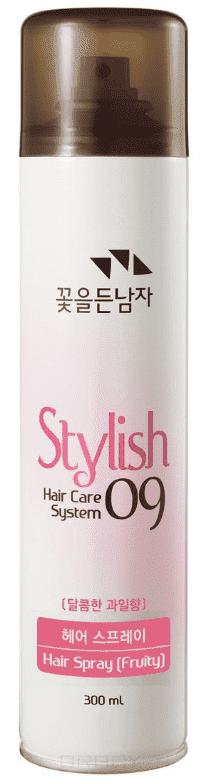 Flor de Man, Hair Care System Спрей для укладки волос фруктовый, средней степени фиксации Stylish 09 Hair Spray (Fruity), 300 мл лосьон спрей для укладки волос средней фиксации lotion spray medium 250 мл