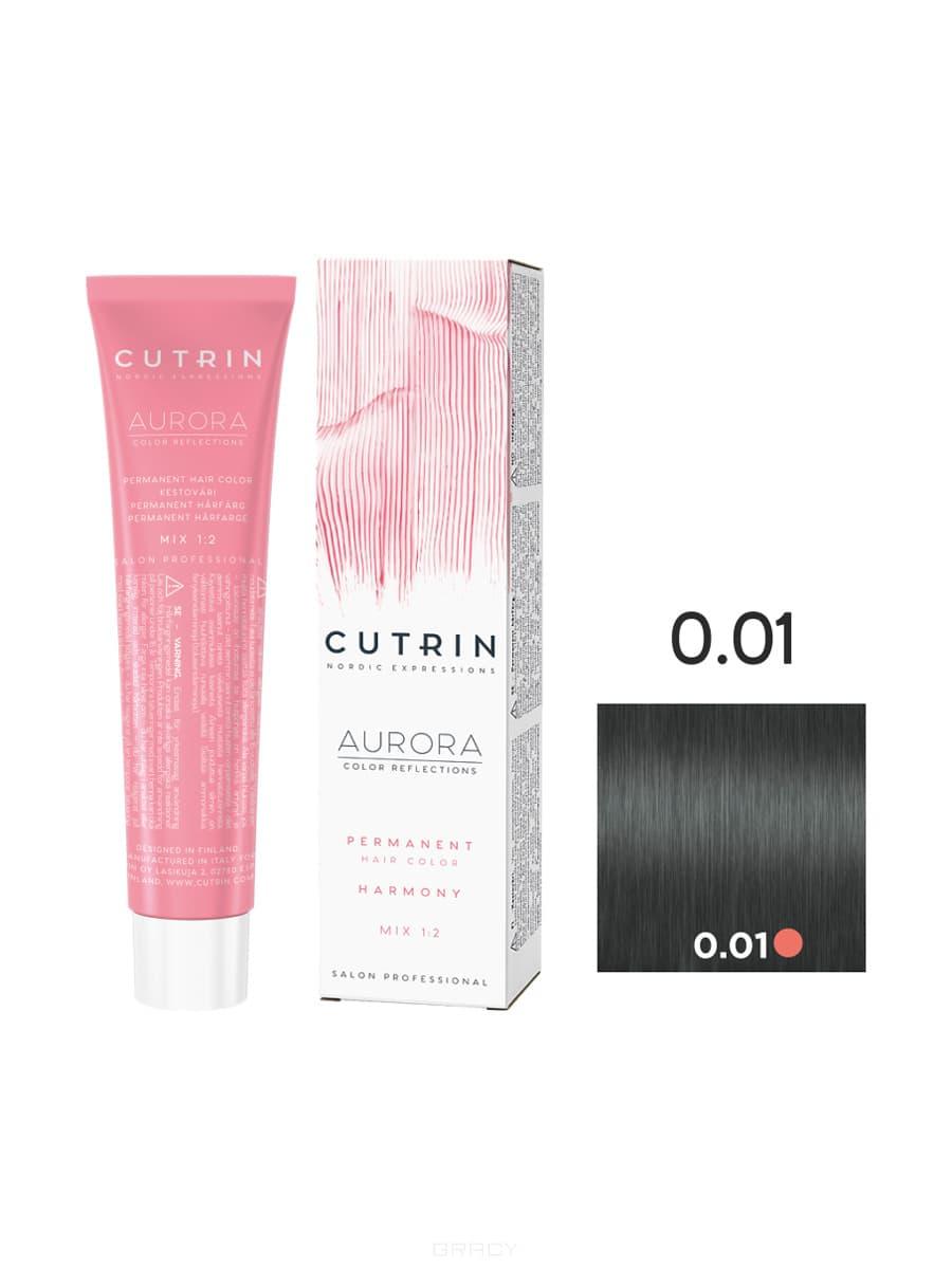 Cutrin, Кутрин краска для волос Aurora Аврора (SCC-Reflection) (палитра 97 оттенков), 60 мл 0.01 Серебряная гармония недорого