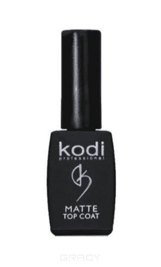 Kodi, Матовое верхнее покрытие для гель лака Matte Top Coat, 8 мл kodi каучуковое верхнее покрытие топ финиш для гель лака rubber top 35 мл