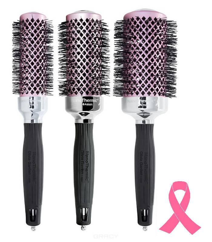 Купить Olivia Garden, Термобрашинг для укладки волос роз/черн керамический + ион NanoThermic (3 вида), 1 шт, 34 мм
