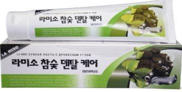 Hardwood Charcoal Dental Care Toothpaste Зубная паста с древесным углем, отбеливающая, 150 мл