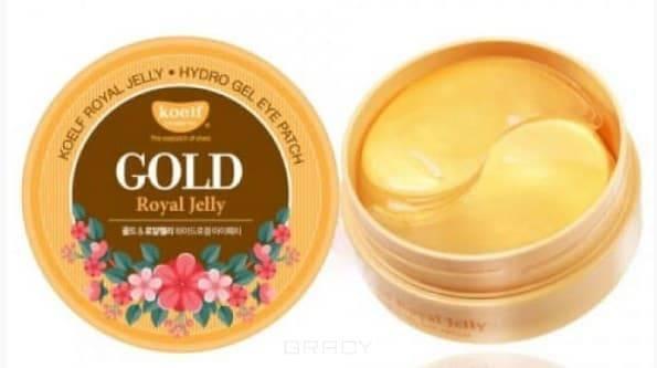 Купить Koelf, Jewel Eye Patch Гидрогелевые патчи для области вокруг глаз с коллоидным золотом и пчелиным маточным молочком Hydro Gel Gold & Royal Jelly Eye Patch, 60 шт