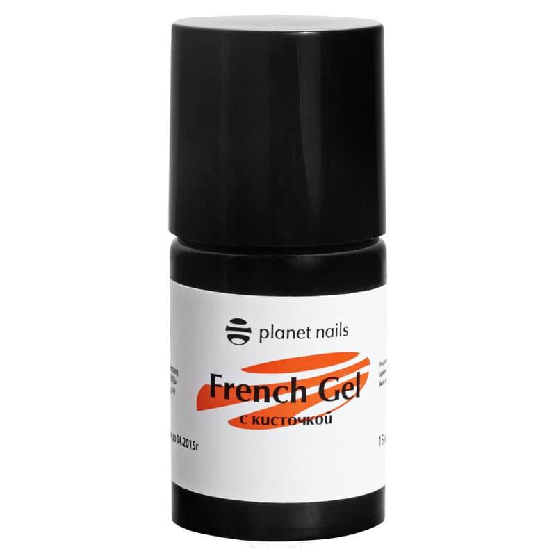 Planet Nails, Гель френч French Gel с кисточкой, 15 млНаращивание ногтей<br><br>