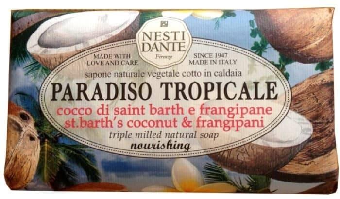 Мыло Кокос и франжипани Cocco di St. Barth &amp;amp; Frangipane, 250 гр.Мыло Paradiso Tropicale st. bath coconut &amp;amp;amp; frangipane &amp;amp;quot;Кокос и франжипани&amp;amp;quot; - это насыщенный аромат тропических фруктов, погружающий вас в мысли об экзотическом отдыхе. Мыло изготовлено вручную, причем для его производства выбраны исключительно натуральные компоненты.<br>