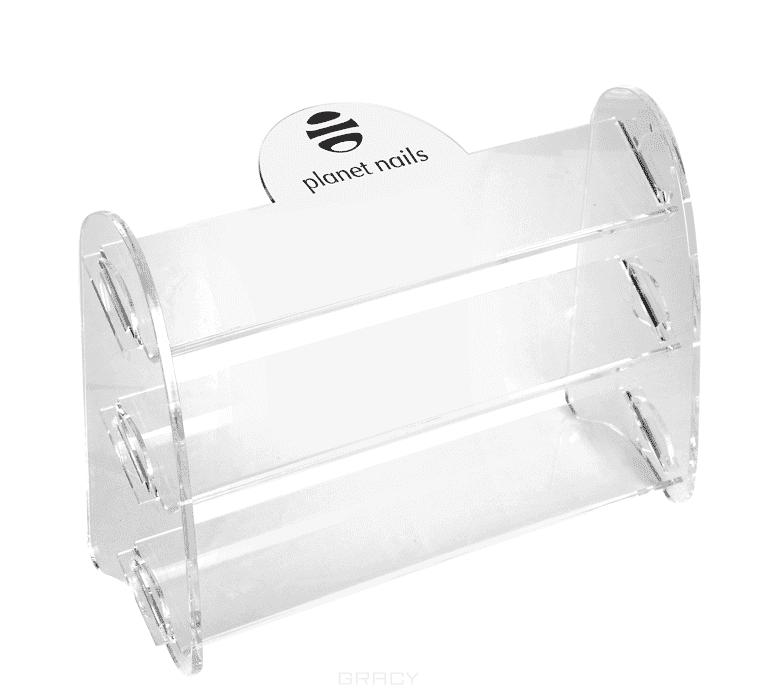Planet Nails, Подставка для лаков с логотипом 3 яруса (маленькая) Подставки под лаки<br><br>