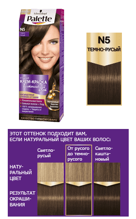 Schwarzkopf Professional, Краска для волос Palette Icc, 50 мл (40 оттенков) N5 Темно-русый schwarzkopf professional краска для волос palette icc 50 мл 40 оттенков c9 пепельный блондин