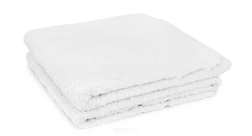 Полотенце махровое с бордюром, 410 г/м2, 50х90 смМягкое махровое полотенце, превосходно впитывающее влагу. Плотность 400 г/м2<br>