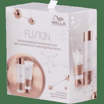 Купить Wella, Набор Fusion (Шампунь и бальзам интенсивный восстанавливающий 250мл+200мл)