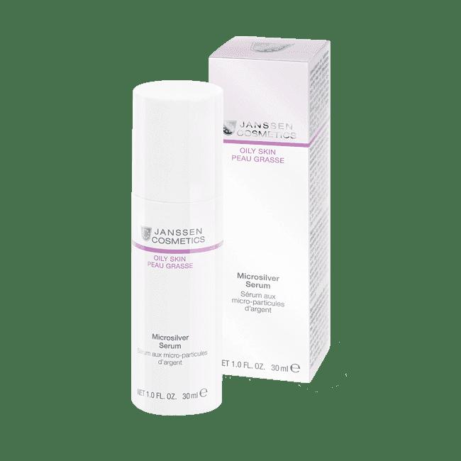 Janssen, Сыворотка с антибактериальным действием для жирной, воспаленной кожи Microsilver Serum Oily Skin, 50 мл ozone air paper p 3031 5