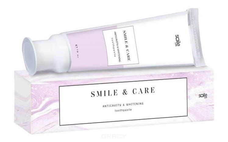 Smile Care, Зубная паста Отбеливающая антикариес Anticavity & Whitening Toothpaste, 70 мл pearl drops зубная паста молодая улыбка каждый день youthful smile 50 мл