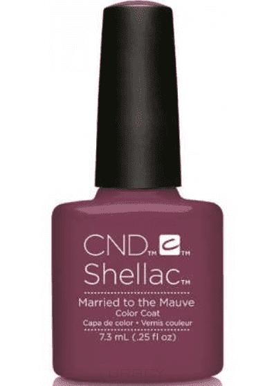 CND (Creative Nail Design), Гель-лак UV Shellac шеллак (58 оттенков) Married To Mauve