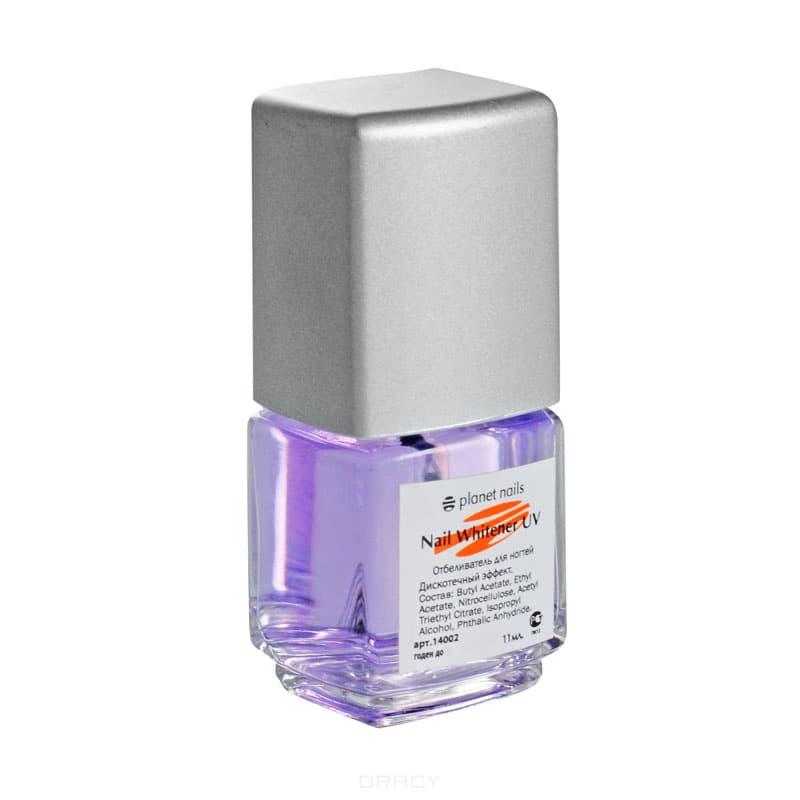 Отбеливатель ногтей-UV дискотечный эффект, 11 млУстраняет желтый налет с ногтей, придает ногтям здоровый и привлекательный вид. Светится при УФ-освещении.&#13;<br>&#13;<br>    &#13;<br>  &#13;<br>&#13;<br>Способ применения:&#13;<br>&#13;<br>Нанести на сухие, чистые ногти 1-2 слоя, дать высохнуть. Рекомендуется использовать 1-2 раза в неделю.<br>