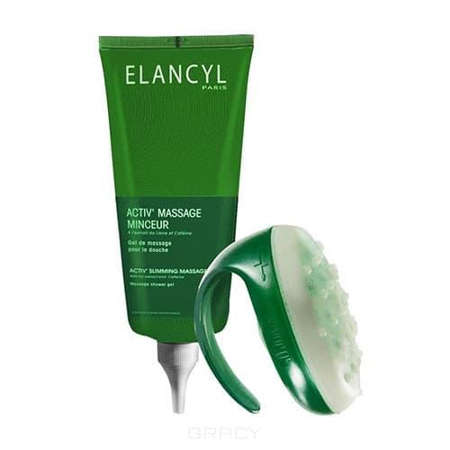 Актив массаж - массажер + гель для противоцелюлитного массажа, 200 млОписание:&#13;<br> &#13;<br> Уникальный метод массажа, разработанный кинезитерапевтами значительно сокращает апельсиновую корку. При применении Elancyl gel de massage pour la douche объем бедер уменьшается на 1,4 см после 28 дней применения. &#13;<br> &#13;<br> При контакте с водой гель образует обильную пену, обеспечивая мягкий массаж. Активные компоненты Elancyl activ massage с лимфодренажным и противотечным действием стимулируют вывод токсинов и излишков воды, способствую тем самым сокращению жировой прослойки. &#13;<br> &#13;<br> Комплект Актив Массаж состоит из массажера и геля:&#13;<br> &#13;<br> - Массажер позволяет проводить специальный массаж под душем, оказывающий эксфолиирующее, лимфодренажное и противоотечное действие.&#13;<br> - Гель с антицеллюлитным действием стимулирует кровообращение, улучшая, тем самым, клеточный обмен и способствуя уменьшению жировой прослойки. &#13;<br> &#13;<br> Активные компоненты:&#13;<br> &#13;<br> Экстракт пилоселлы 1%, кофеин 1%, экстаркт плюща 1%, сверхпитаетльный комплекс, поверхностноактивные вещества.&#13;<br> &#13;<br> Способ применения:&#13;<br>...<br>