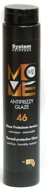 Крем-глазурь для волос с термозащитой Move Me Antifrizzy Glaze, 250 млГлазурь обладает высокой термозащитой при укладке волос феном и утюгом. Нежный флюид моментально придаст стильный, сияющий вид непокорным локонам, сохранит стойкость и яркость цвета. Великолепно разглаживает волосы и придает им роскошное сияние. UV-фильтр - надежно защищает натуральные, и окрашенные волосы. Легкая консистенция не утяжеляет их. Степень фиксации (3).&#13;<br>&#13;<br>Состав:диптерикс душистый, лимонен, гидрогенизированное касторовое масло.&#13;<br>&#13;<br>Способ применения:небольшое количество флюида нанести на ладони и равномерно распределить на влажные или сухие волосы и выполнить желаемую укладку.<br>
