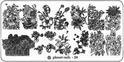 Planet Nails, Пластина для Stamping Nail Art (25 видов) - 24