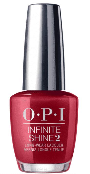 OPI, Лак с преимуществом геля Infinite Shine, 15 мл (190 цветов) An Affair In Red Square / Iconic red square