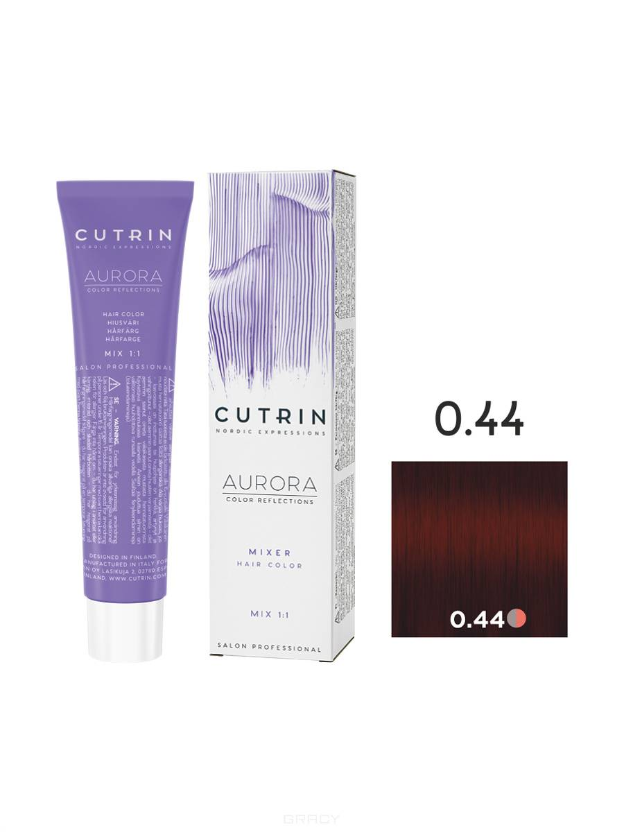 Cutrin, Кутрин краска для волос Aurora Аврора (SCC-Reflection) (палитра 97 оттенков), 60 мл 0.44 Красный микс-тон цены онлайн