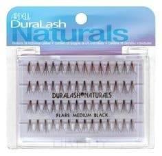 цена на Duralash Naturals Knot-Free Flairs Medium Black Безузелковые пучки ресниц средние черные