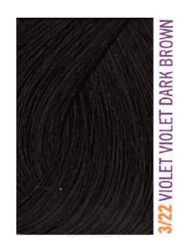 Купить Lakme, Крем-краска для волос тонирующая Gloss, 60 мл (54 оттенка) 3/22 Темно-каштановый фиолетовый яркий