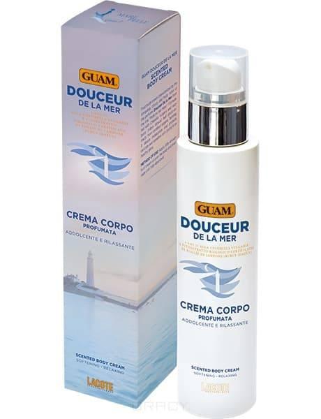Крем для тела парфюмированный успокаивающий и расслабляющий De la Mer, 200 млОписание:&#13;<br>&#13;<br>  &#13;<br>&#13;<br>&#13;<br>Крем для тела парфюмированный Douceur успокаивающий и расслабляющий De La Mer- жидкий крем для тела, который пропитывает волнующим, фруктовым, слегка цитрусовым ароматом. Его эксклюзивная формула с Chlorella Vulgaris глубоко увлажняет кожу и прекрасно сочетается с растительным экстрактом, полученным из листьев малины (Rubus Idaeus), выращенной в сертифицированных органических хозяйствах. Он эффективно защищает самую нежную и чувствительную кожу, восстанавливает ее, питает и вновь насыщает влагой, необходимой для поддержания красоты.&#13;<br>&#13;<br>&#13;<br>    &#13;<br>  &#13;<br>&#13;<br>Дерматологический протестировано.&#13;<br>&#13;<br>&#13;<br>    &#13;<br>  &#13;<br>&#13;<br>Способ применения:&#13;<br>&#13;<br>&#13;<br>    &#13;<br>  &#13;<br>&#13;<br>Нанесите крем на тело и втирайте до полного впитывания. Идеально подходит для использования после ванны или душа.&#13;<br>&#13;<br>&#13;<br>    &#13;<br>  &#13;<br>&#13;<br>Не содержит:&#13;<br>&#13;<br>&#13;<br>    &#13;<br>  &#13;<br>&#13;<br>Парабенов, полиэтилен гликоля, силиконов, красителей, нефтепродуктов.<br>