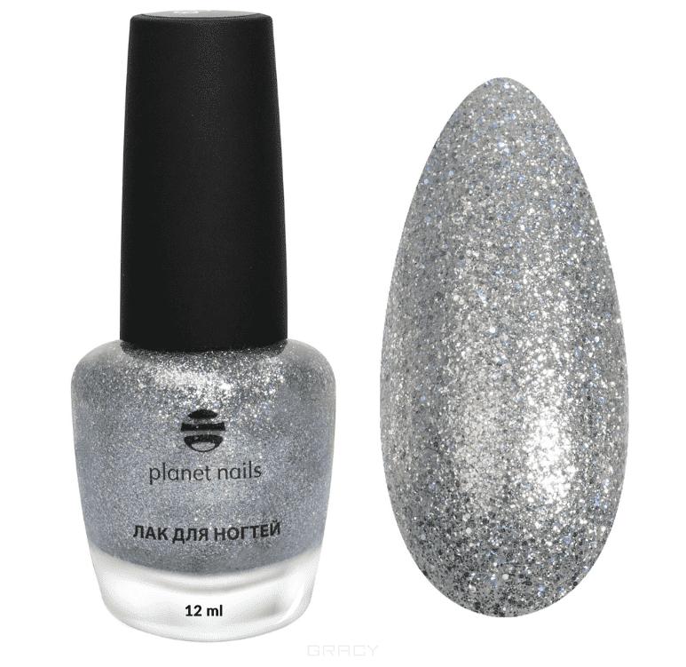 купить Planet Nails, Лак для ногтей с глиттером, 12 мл (7 оттенков) Лак для ногтей с глиттером, 12 мл (7 оттенков) дешево