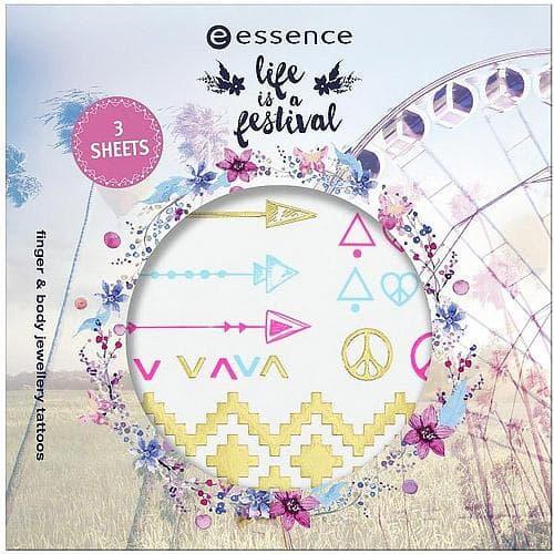 Essence, Наклейки-тату для тела и пальцев Llife Is A Festival недорого