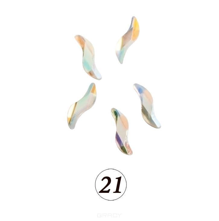 Купить Planet Nails, Цветные фигурные стразы в ассортименте (76 видов), 5 шт/уп Планет Нейлс №21