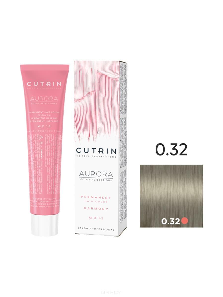 Cutrin, Кутрин краска для волос Aurora Аврора (SCC-Reflection) (палитра 97 оттенков), 60 мл 0.32 Антикварное золото cutrin кутрин краска для волос aurora аврора scc reflection палитра 97 оттенков 60 мл 0 03 прикосновение солнца
