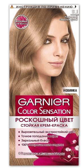 Garnier, Краска для волос Color Sensation, 110 мл (25 оттенков) 8.1 Роскошный северный русыйОкрашивание волос Гарньер<br><br>