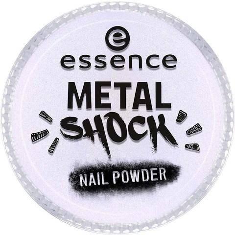 Essence, Эффектная пудра для ногтей Metal Shock Nail Powder, 9 гр (6 оттенков) №05, синий перламутр цена