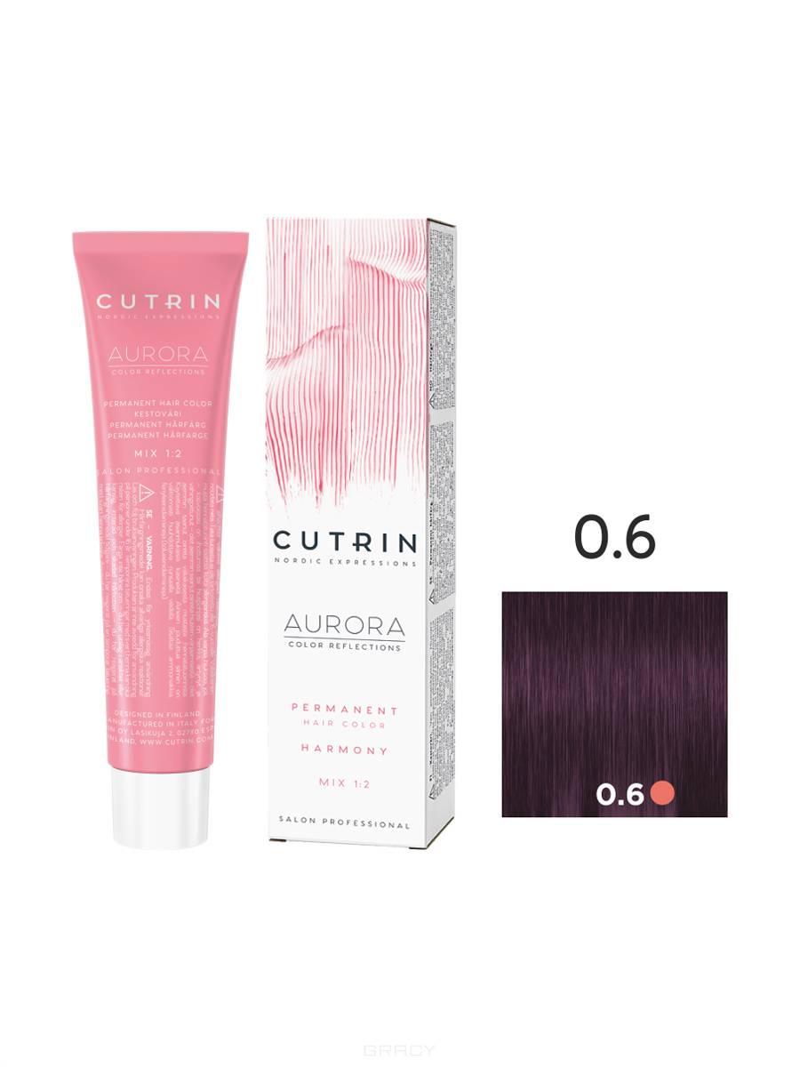 Cutrin, Кутрин краска для волос Aurora Аврора (SCC-Reflection) (палитра 97 оттенков), 60 мл 0.6 Лиловый вереск недорого