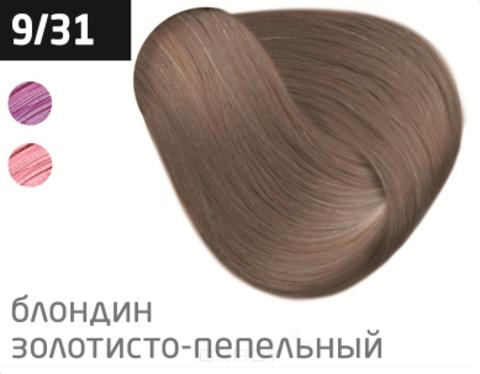 Купить OLLIN Professional, Перманентная стойкая крем-краска с комплексом Vibra Riche Ollin Performance (120 оттенков) 9/31 блондин золотисто-пепельный