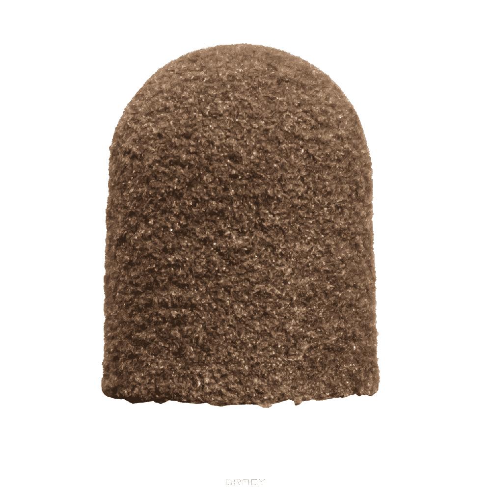 Lukas, Одноразовый колпачок абразивный коричневый, крупный абразив, 10шт (4 вида), 5 мм 10 шт. фото