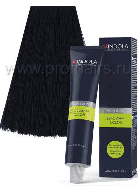 Indola, Zero Amm Стойкий краситель на масляной основе без аммиака, 60 мл (35 оттенков) 1-1 черный пепельныйОкрашивание<br><br>