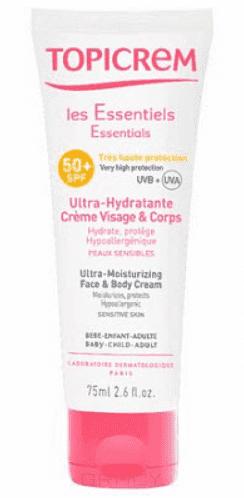 Ультра-увлажняющий крем SPF50+, 40 мл topicrem ультра увлажняющий крем spf50 для лица и тела 75мл essentials