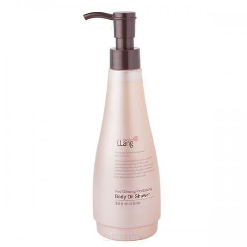 LLang, Восстанавливающее масло для тела с красным женьшенем Red Ginseng Revitalizing Body Oil Shower, 285 мл крем llang red ginseng revitalizing smoothing care cream 150 мл
