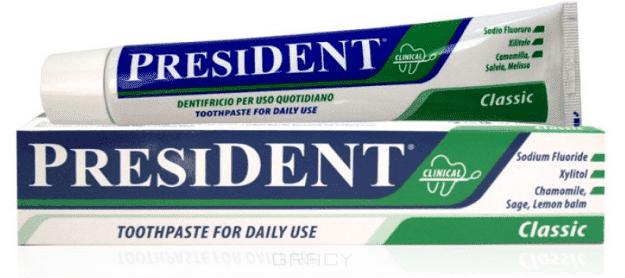 President, Паста зубная Classic, 100 мл зубная паста president president зубная паста active plus туба 30 мл
