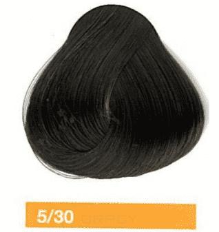 Lakme, Перманентная крем-краска Collage, 60 мл (99 оттенков) 5/30 Светлый шатен золотистый eugene carmen ultime перманентная крем краска 3 темный шатен 60 мл