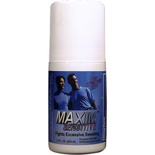MAXIM, Дезодорант-антиперсперант с шариковым аппликатором для чувствительной кожи 10,8% Maxim Antiperspirant  Sensetive  10,8%, 29,5 млMAXIM<br><br>
