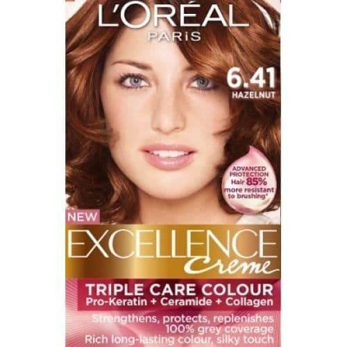 LOreal, Краска для волос Excellence Creme (32 оттенка), 270 мл 6.41 Лесной орехОкрашивание волос Casting, Preference, Prodigy, Excellence<br><br>