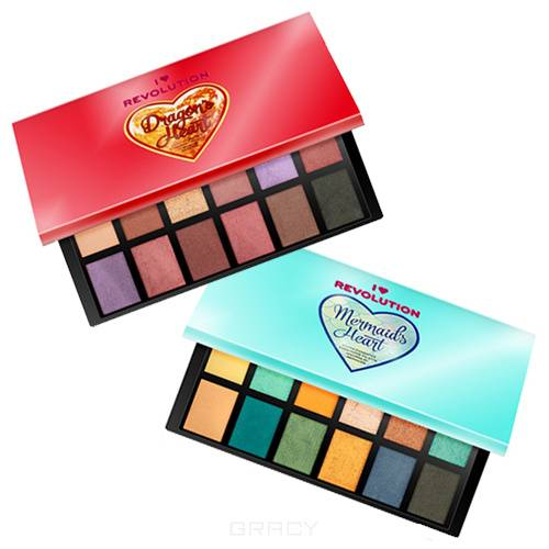 Купить MakeUp Revolution, Палетка теней I Heart Revolution Eyeshadow Palette, 9 гр